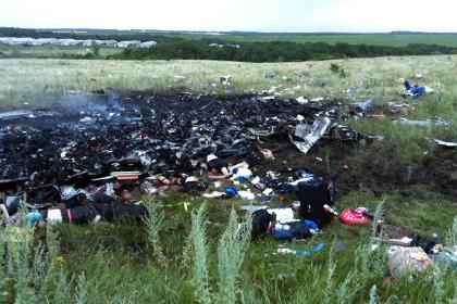 Обломки малазийского Боинга 777, разбившегося на территории ДНР. Погибло 295 человек