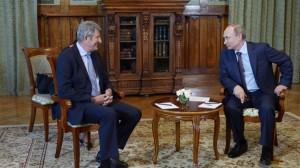 Владимир Путин принимает Филиппа де Вилье в Ливадийском дворце