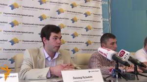Кузьмин и Шукурдиев на пресс-конференции по поводу учреждения Украинского культурного центра в Крыму