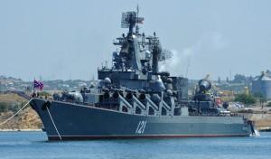 """Флагман ЧФ крейсер """"Москва"""" будет сбивать турецкие самолеты над Сирией"""