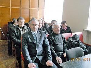 Вадерий Подъячий и Семен Клюев на украинском судилище в 2011 г.