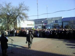 Народное вече в Каланчаке. В поселке формируются отряда по противодействию произволу меджлисовцев и украинских бандформирований