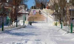 В замерзший Геническ стал поступать российский газе.