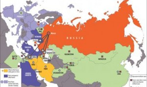 Очередная карта в западном издании, на котором Крым изображен в составе России