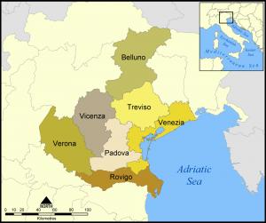 Регион Венето и его провинции