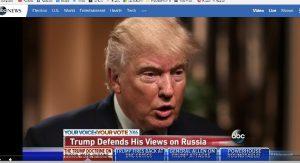 Доналд Трамп говорит о Крыме на воскресной передаче компании Эй Би Си