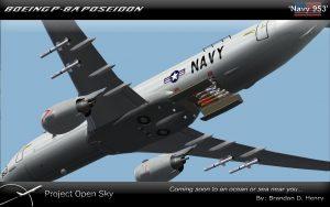 Американский разведывательный самолет P-8A Poseidon