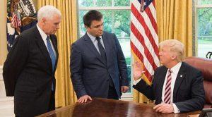 Климкин с подобострастием выслушивает Доналда Трампа
